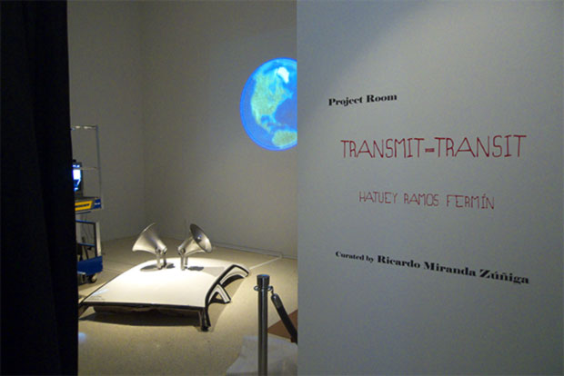 TRANSMIT - TRANSIT exhibition entrance