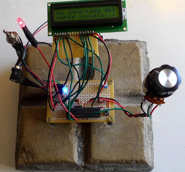 Circuit mounted to Santiago sidewalk tile